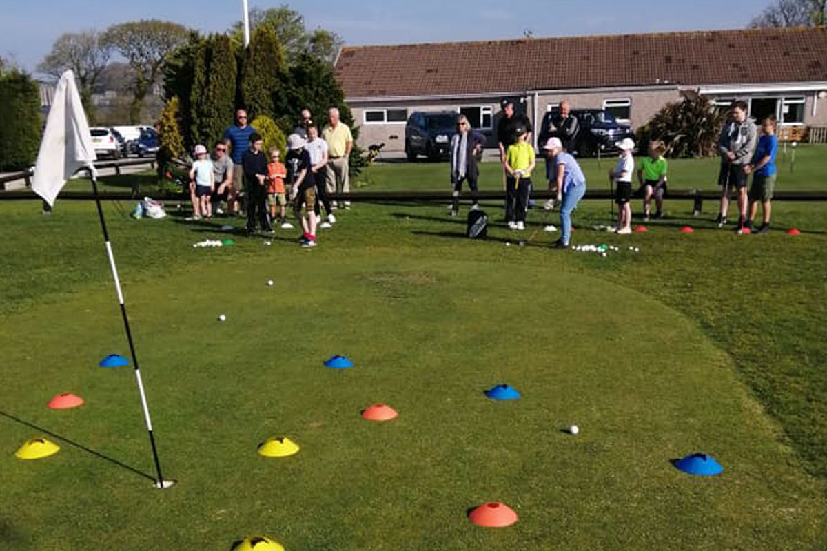 Junior golf coaching in cornwall